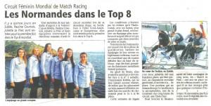 Les normandes dans le top 8 du circuit féminin mondial de Match-racing