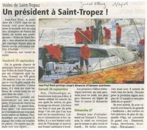 Le président aux voiles de Saint-Tropez