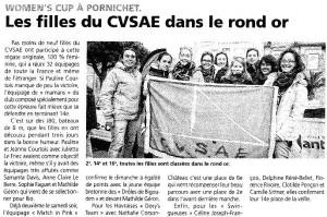 Les filles du CVSAE participent à la women's cup