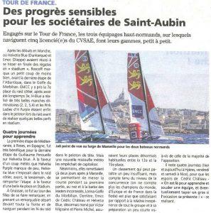 Les équipages du CVSAE progressent dans le tour de France à la voile