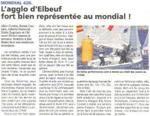 L'agglo d'Elbeuf représentée au mondial 420