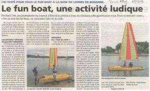J'ai testé pour vous ... le fun-boat à Bédanne
