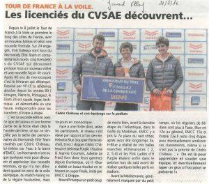 Les licenciés du CVSAE découvrent le tour de France à la voile