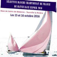 Affiche reduite pour le championnat de France Match Race espoir  2016, bassin manche